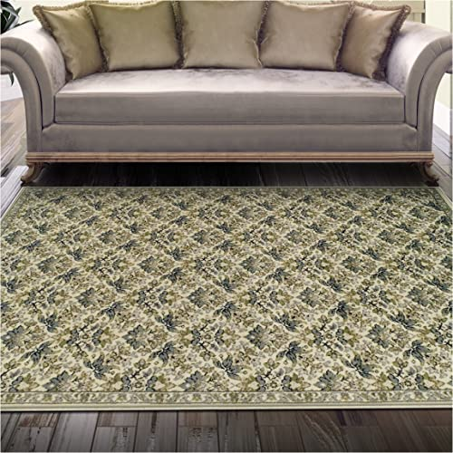 Superior Madeleine Collection Area Rug, 8mm Pile Height with Jute Backing, Beautiful Delicate Floral Pattern, Fashionable and Affordable Woven Rugs – 8 x 10 Rug