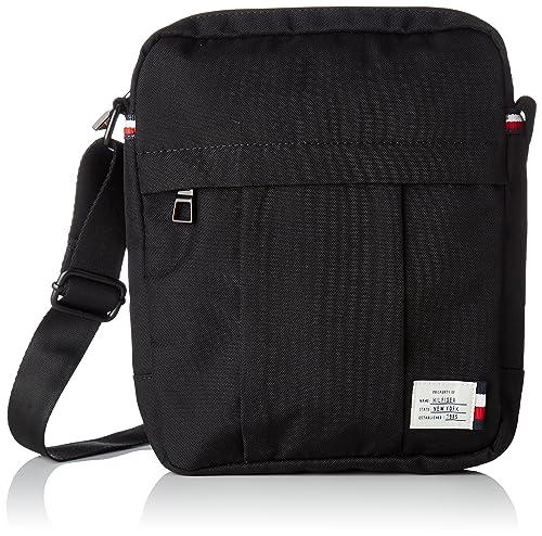0d361aeab3c0 Tommy Hilfiger Mens Tommy Slim Reporter Laptop Bag Black (Black ...