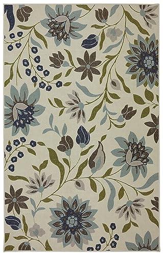 Mohawk Home Woodbridge Clarita Floral Printed Area Rug, 5 x 8 , Blue