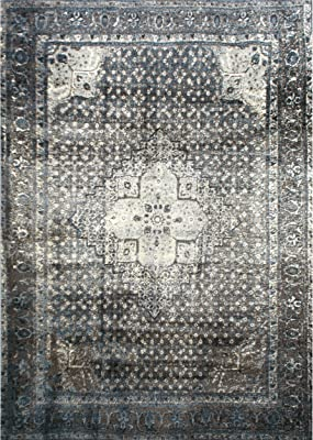 nuLOOM OWTC02A Vintage Inspired Overdyed Distressed Area Rug, 8' x 11', Slate