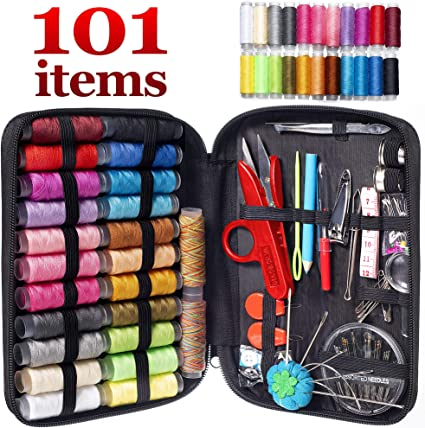 Simply For Home Sewing Kit Clipper thread needles pins tape measure buttons pins