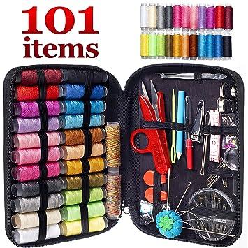 Amazon.com: MYFOXI Kit de costura para adultos, niños, hogar ...