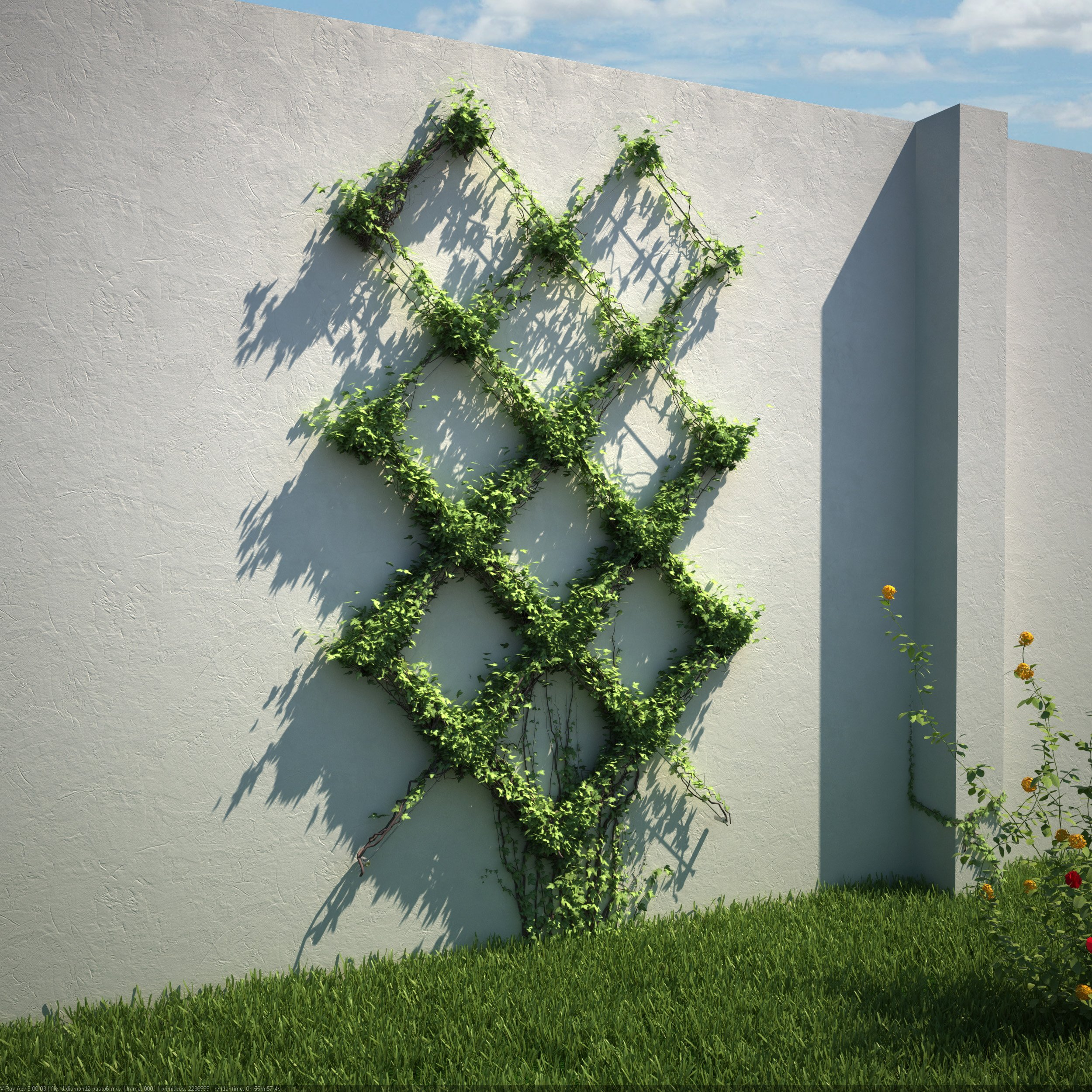 Diamond Pattern Wire Trellis