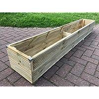 2ft - 6ft JUMBO EXTRA LARGE Long Wooden Planter - Decking Trough - Garden Flower Plant Tub