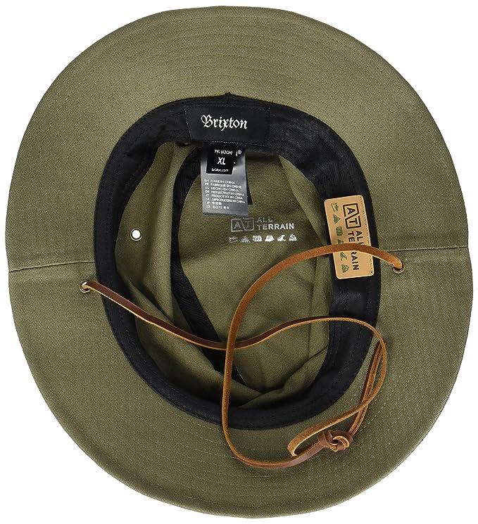 f547f42d0ec Amazon.com  Brixton Men s Penn Quilted Short Brim Waxed Cotton Fedora Hat   Clothing