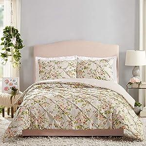 Jessica Simpson Mils Comforter Set, Full Queen, Gray