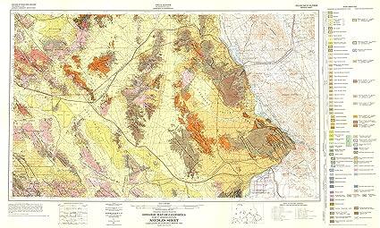 Amazon Com Mining Map Needles California Sheet Ca Mines 1957