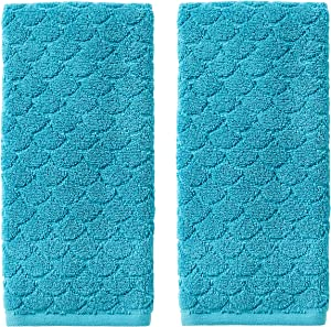 SKL Home by Saturday Knight Ltd. Ocean Watercolor Scales Hand Towel, Blue (2-Pack)