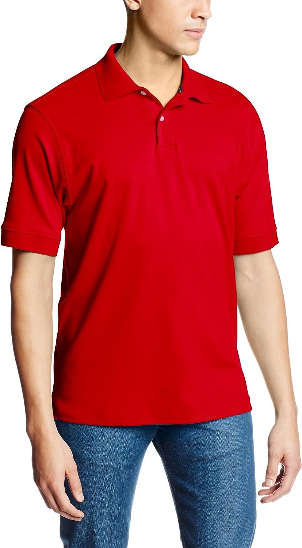 Arrow 1851 Mens Big and Tall Cool Cotton Short Sleeve Heather Polo Shirt Polo Shirt