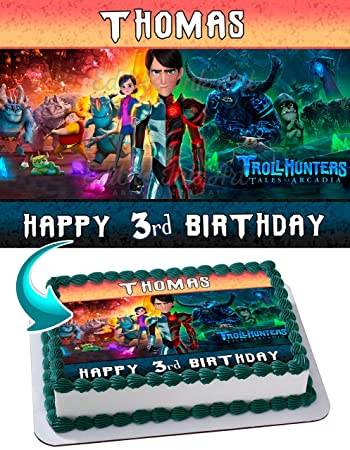 Trolls Hunters Edible Image Cake Topper Personalized Birthday 1 4
