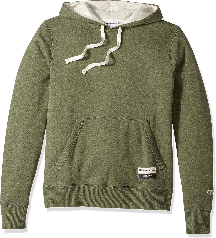Champion Men's Authentic Originals Sueded Fleece Pullover Hoodie at  Men's Clothing store