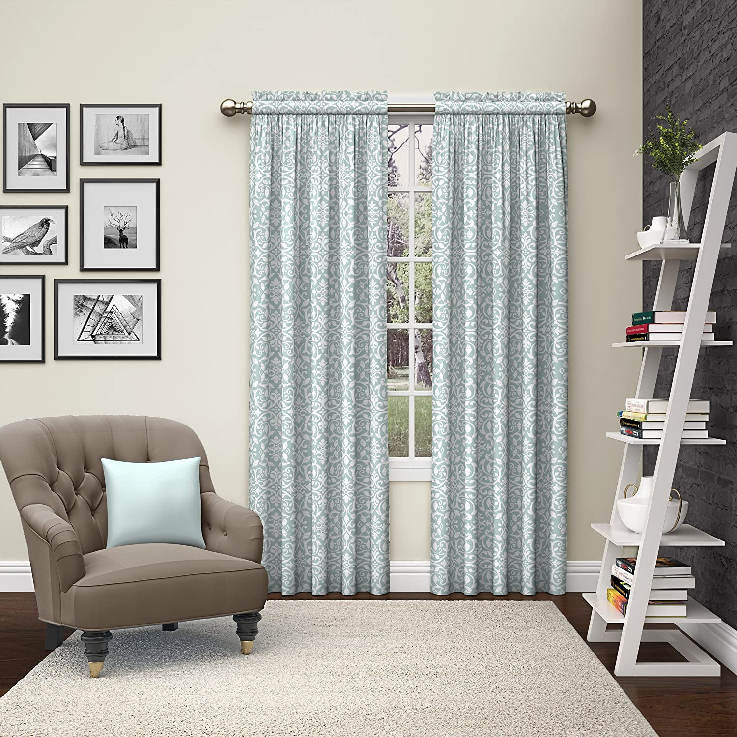 Pairs to Go Eclipse 15615056X063CHC Teller Window Curtains (2 Pack), 56 x 63, Chocolate 56 x 63 Ellery Homestyles