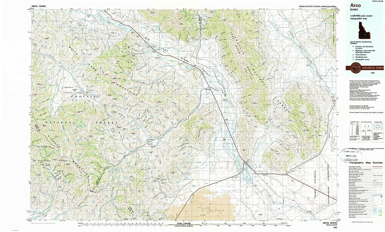 Amazon Com Yellowmaps Arco Id Topo Map 1 100000 Scale 30 X 60