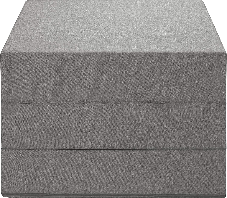 Badenia Trendline Materasso Pieghevole per Ospiti Poliestere Grigio Chiaro 196 x 65 x 15,5 cm