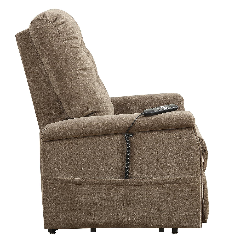 Amazon Pulaski Montreal Coffee Fabric Lift Chair Brown