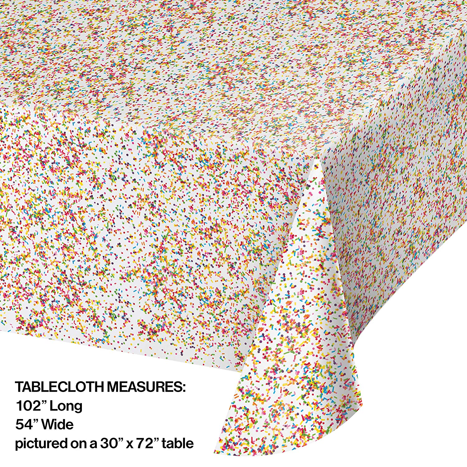 Confetti Sprinkles Plastic Tablecloths 3 ct