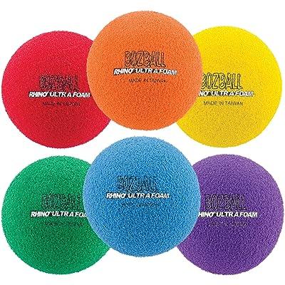 Champion Sports Rhino Foam No-Bounce Balls, Set of 6 : Playground Balls : Sports & Outdoors