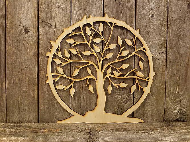 Magnifiek Amazon.com: Tree of Life- laser cut wood sign: Handmade #QT86