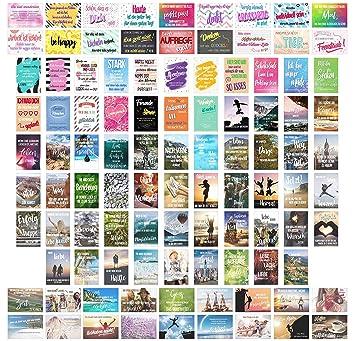 Edition Seidel Set 100 Postkarten Leben Momente Mit Spruchen Karten Mit Spruch Geschenk Dekoidee Liebe Freundschaft Leben Motivation