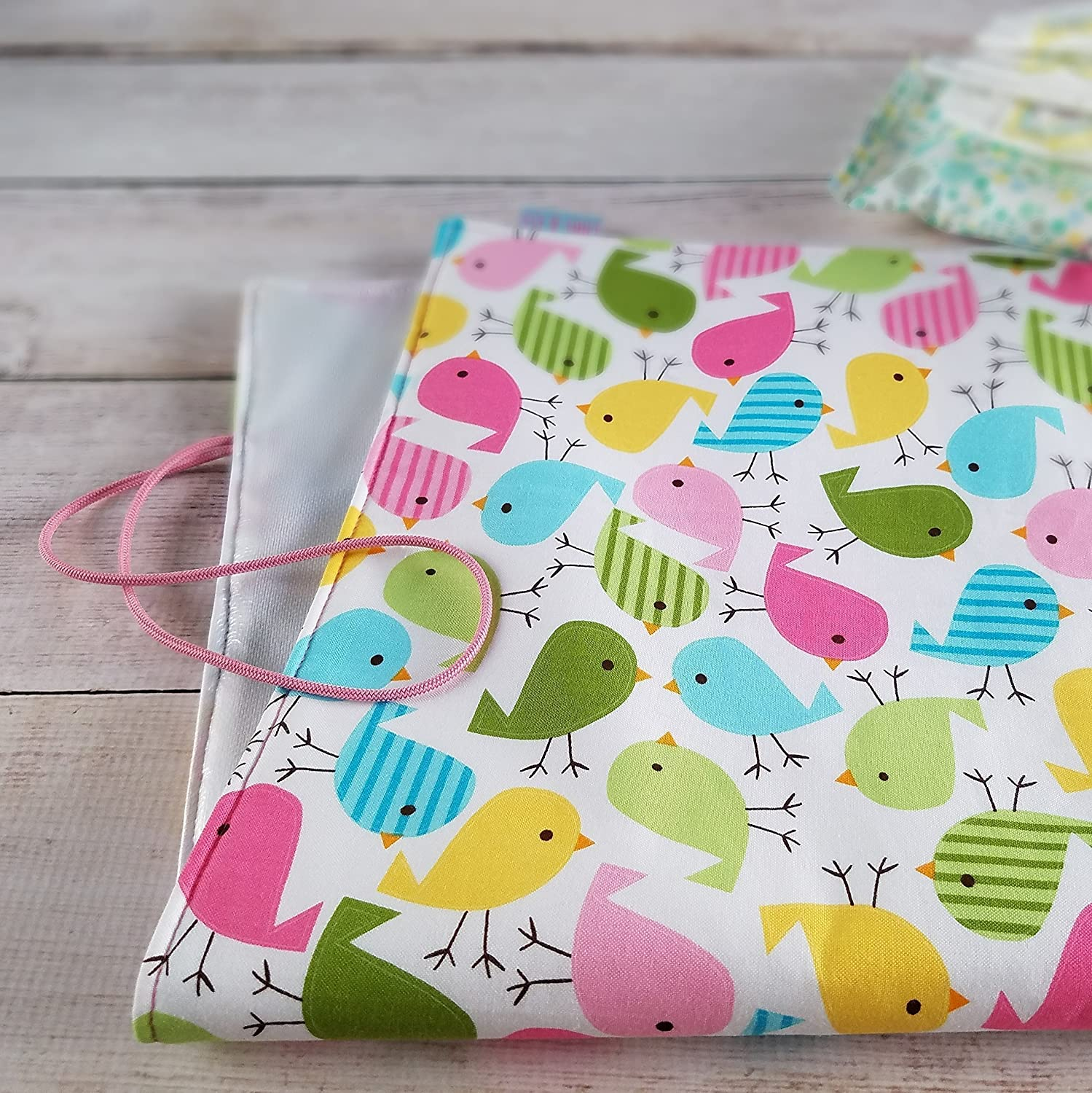Portable Travel Baby Changing Mat Spring Birds