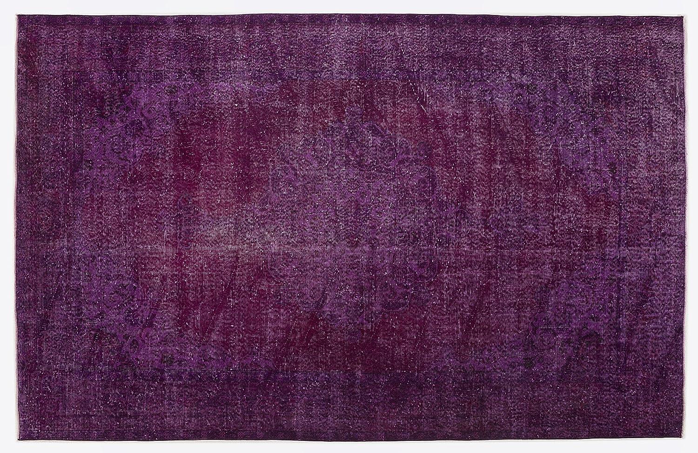 Bespoky ビンテージ 手織 ラグ 紫の 大きいサイズ 203 X 318 Cm   B07HKZN3ZZ