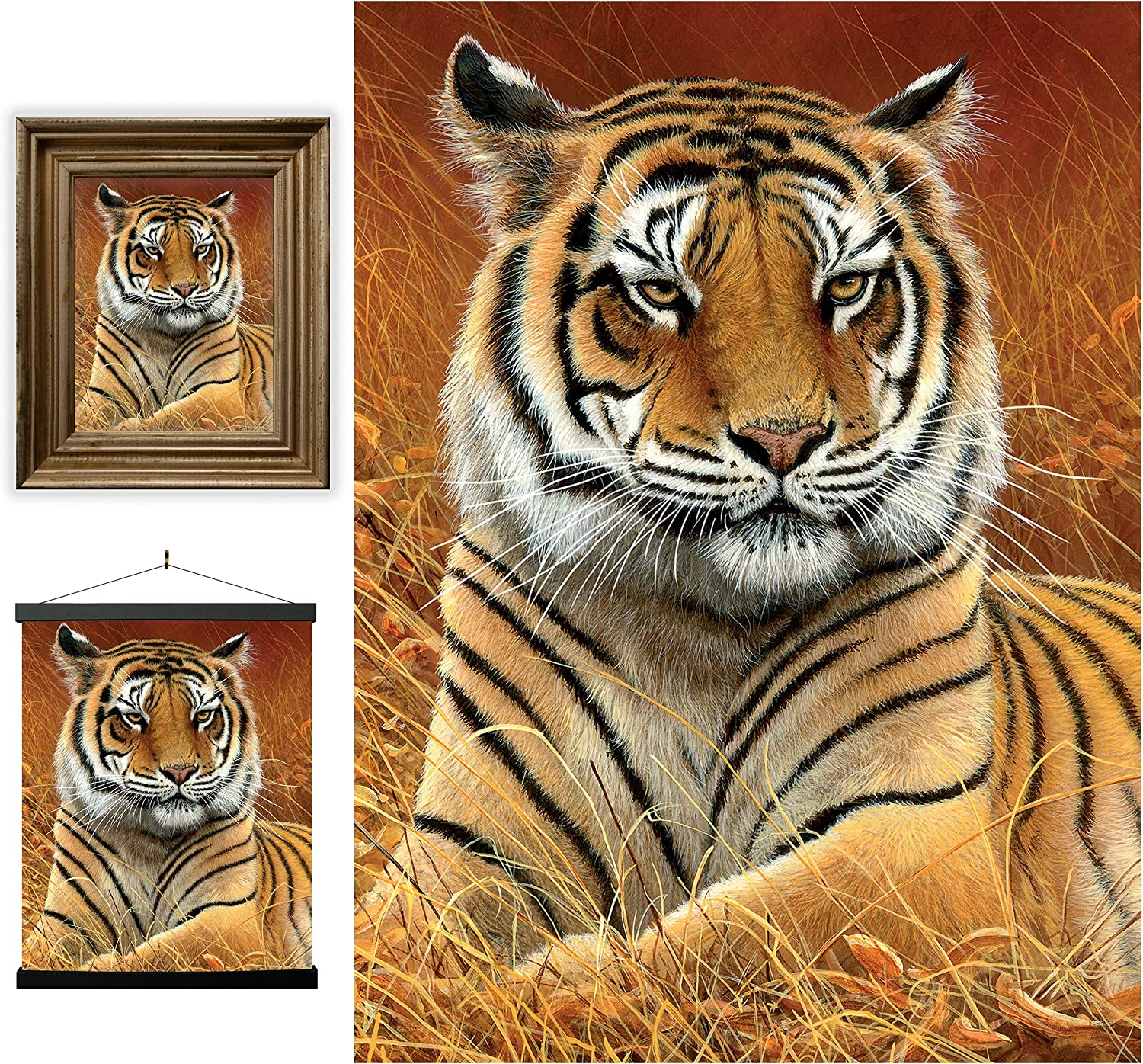 3D LiveLife Lenticular Wall Art Prints - Aloof from Deluxebase. Unframed 3D Tiger Poster. Perfect wall decor. Original artwork licensed from renowned artist, Jeremy Paul