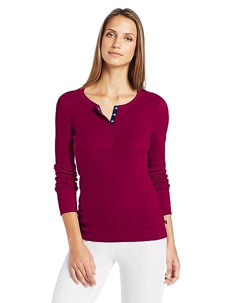 Nautica pijamas mujer Pointelle Henley – Top - Púrpura -
