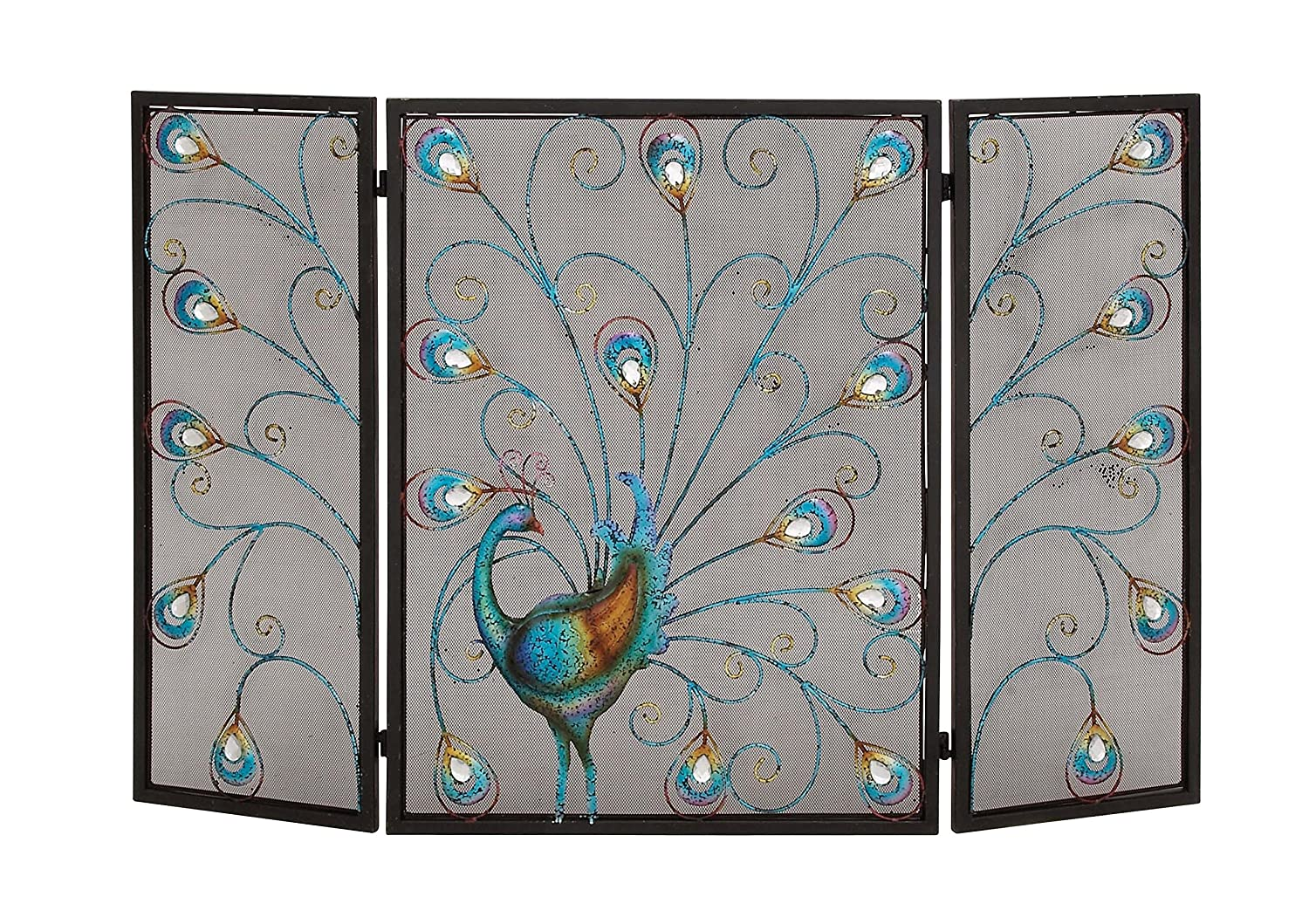 Deco 79 55275 Metal Fire Screen, 48