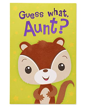 Amazon Squirrel Birthday Card For Aunt With Foil Office Products