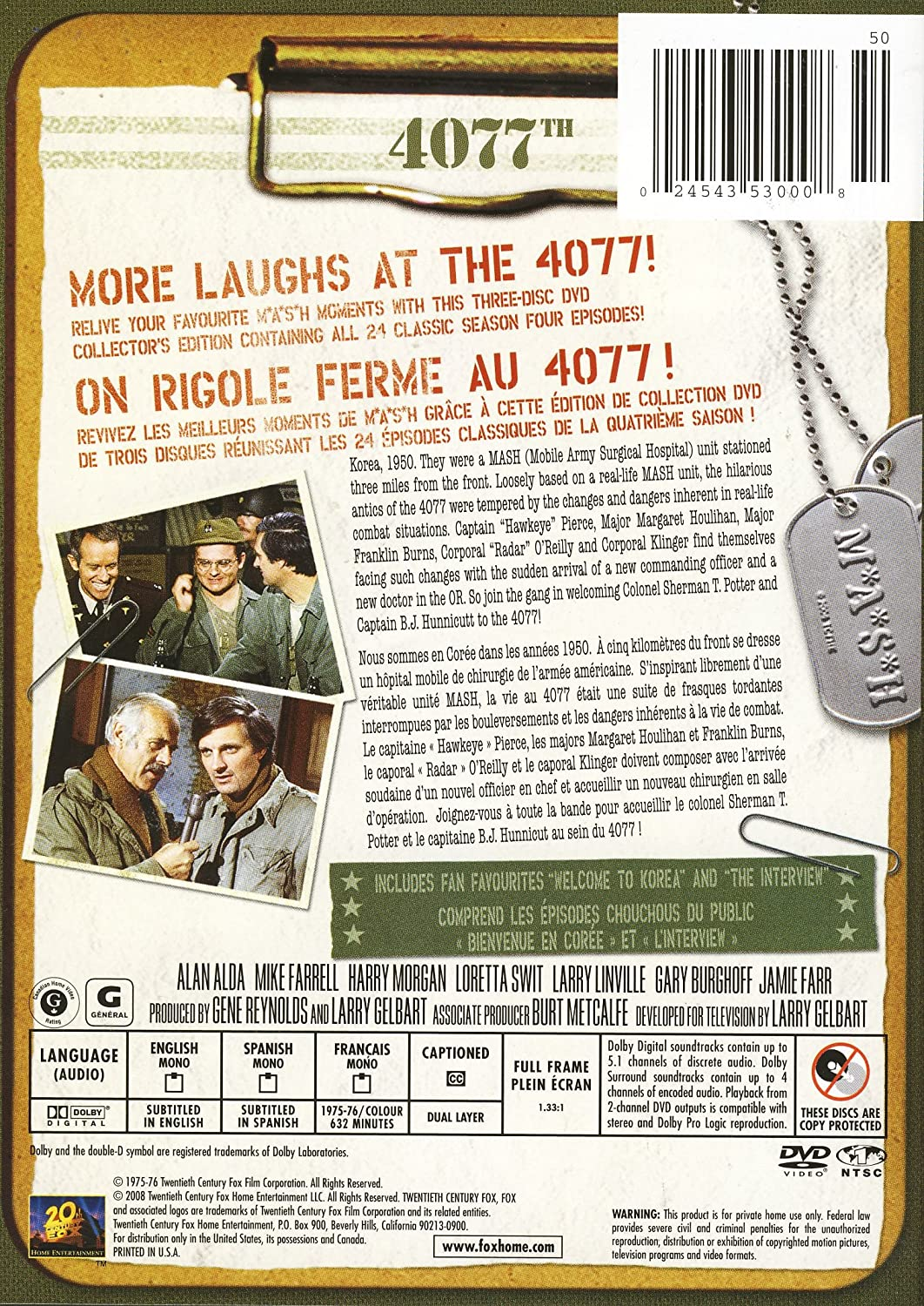 Amazon.com: M*A*S*H: Season 4: Alan Alda, Loretta Swit, Jamie Farr, William Christopher, Harry Morgan: Movies & TV