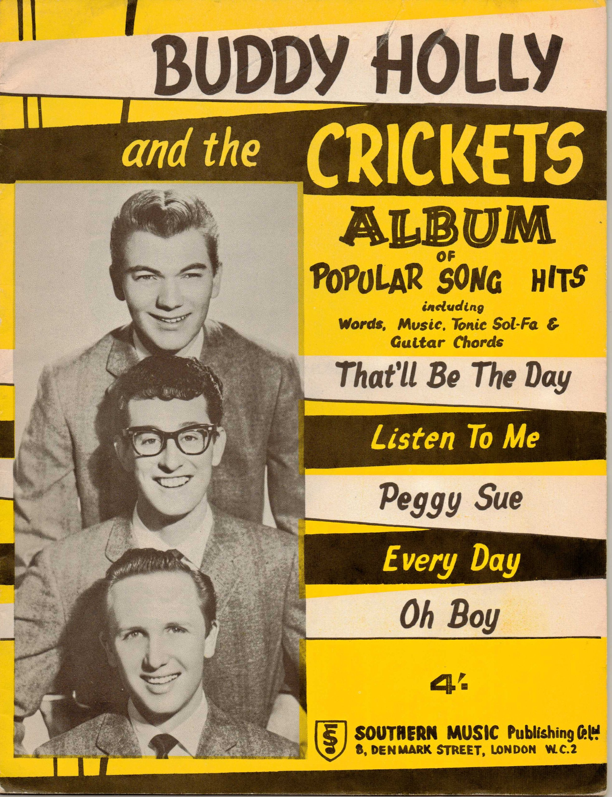 Buddy Holly And The Crickets Album Of Popular Song Hits Including