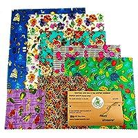 Envolturas de cera de abejas, juego de 6, colores aleatorios, BEE Zero Waste, UK HANDMADE, alternativa natural a la…