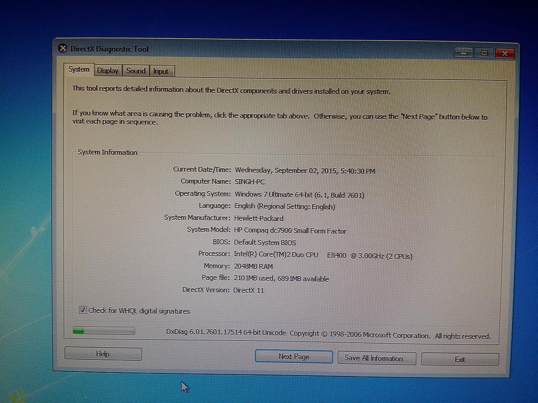 HP Compaq dc7900 Business SFF Desktop Intel Core2Duo 3 16GHz: Amazon