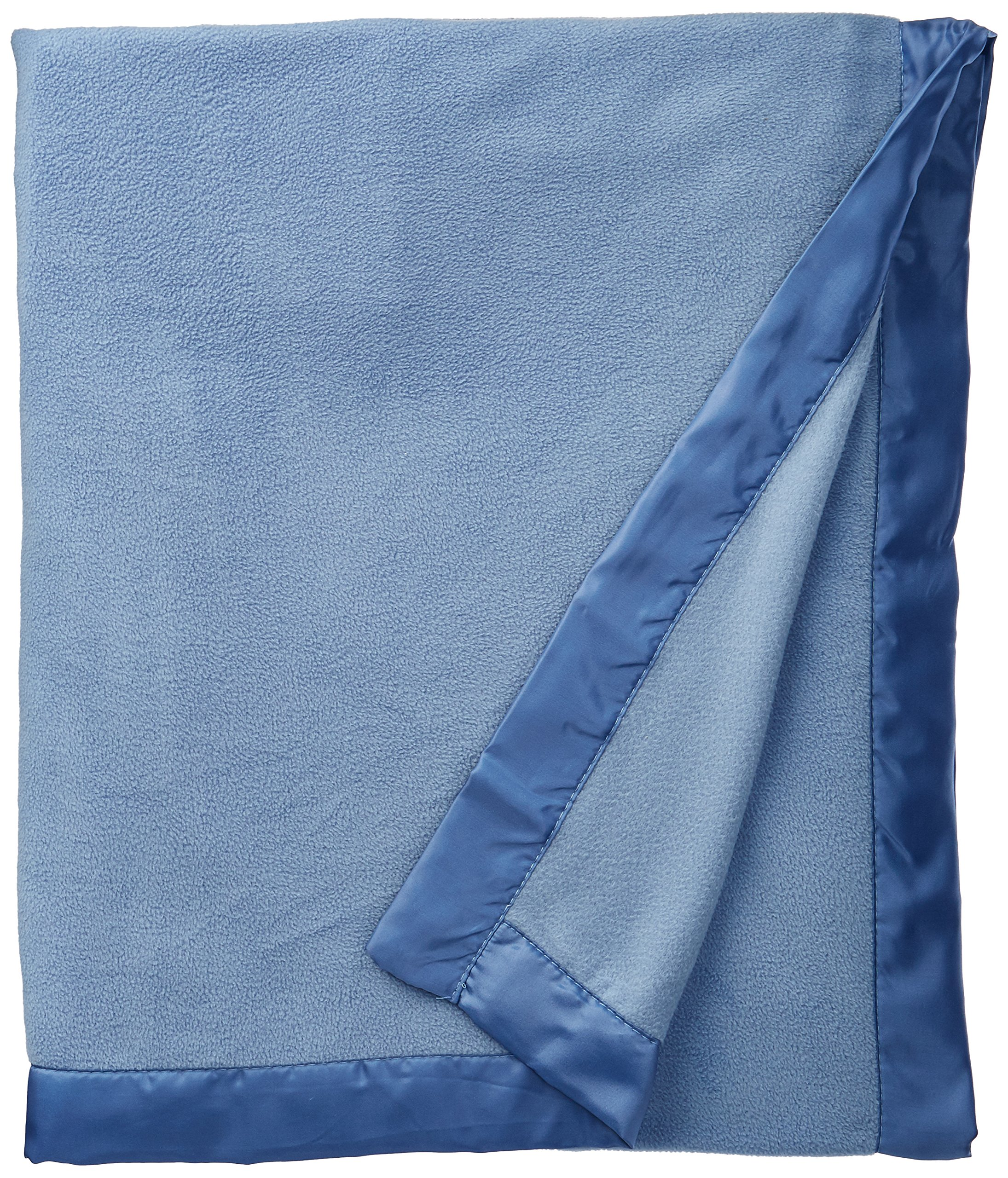 True North by Sleep Philosophy Micro Fleece Luxury Blanket Blue 6690 Twin Size Premium Soft Cozy Mircofleece For Bed, Coach or Sofa