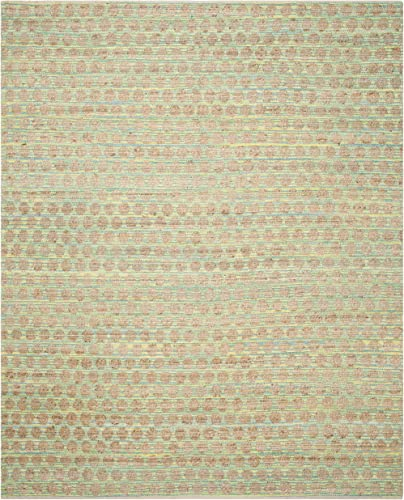 Safavieh Cape Cod Collection CAP820H Hand Woven Teal and Natural Jute and Cotton Area Rug 8' x 10'
