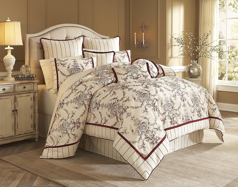 amazoncom michael amini hidden glen 10piece comforter king natural home u0026 kitchen - Michael Amini