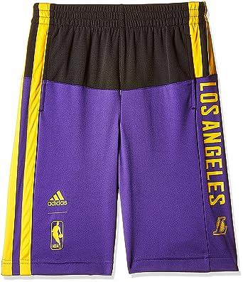 adidas Lakers Y SMR RN Short - Short Basketball LA Lakers Garçon ... 0000b7e9233d