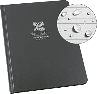 """product image for Rite in the Rain Weatherproof Hard Cover Notebook, 6 3/4"""" x 8 3/4"""", Gray Cover, Universal Pattern (No. 870F-LG)"""