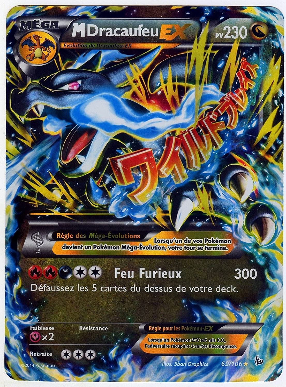 carte pokemon mega dracaufeu ex carte Pokémon 69/106 Mega Dracaufeu EX JUMBO 230 PV   FULL ART