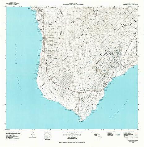 Amazon.com : YellowMaps Hawaii County Sheet 3 HI topo map, 1:100000 ...