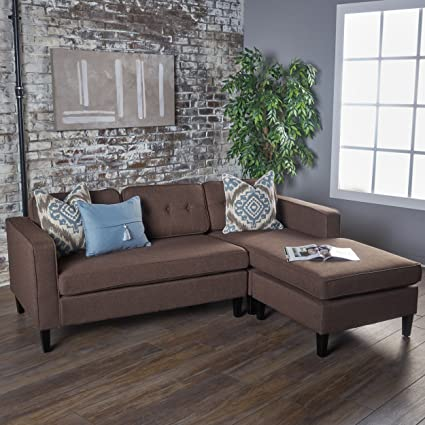 Windsor Living Room | 2 Piece Chaise Sectional Sofa | Ideal for Small Apartment Living | & Amazon.com: Windsor Living Room | 2 Piece Chaise Sectional Sofa ...