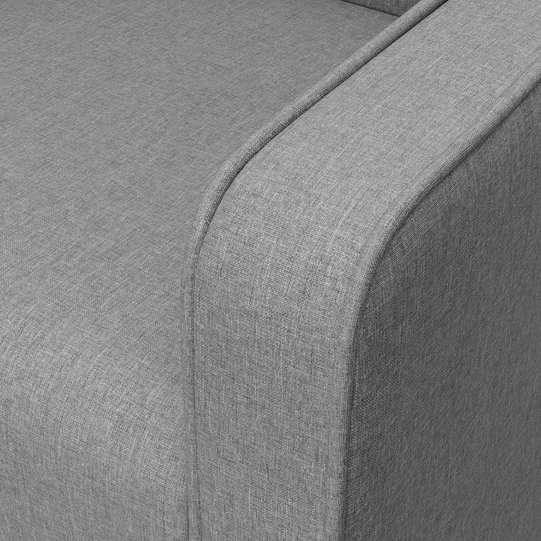 Horizon Gray Graco Remi Upholstered Swivel Glider