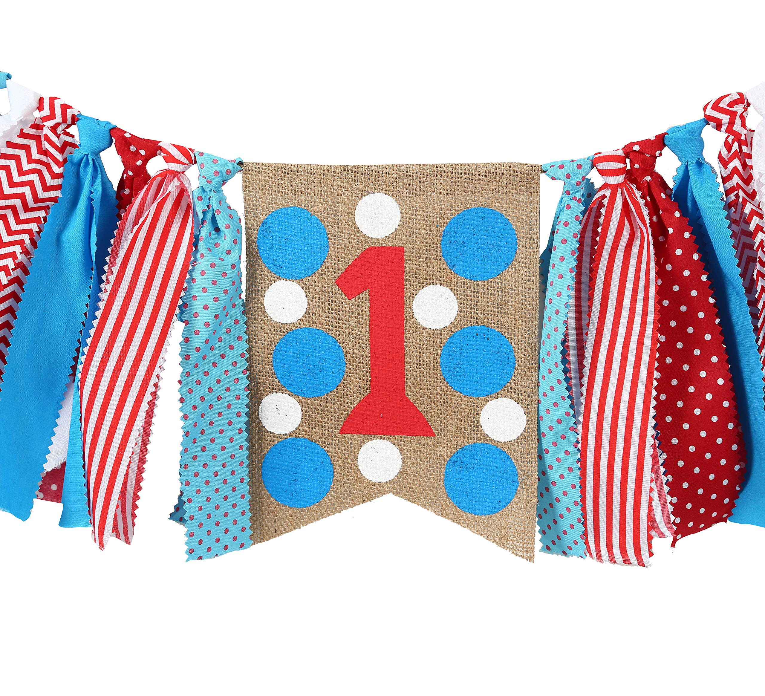 WAOUH 1star Birthday for Dr Seuss Decorations - Dr Seuss Party Supplies for Highchair Banner-Photo Prop for Dr Seuss Wall Decor,Birthday Souvenir and Gifts for Kids (1st Birthday Banner) by WAOUH (Image #3)