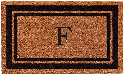Calloway Mills 152962436F Black Border 24 x 36 Monogram Doormat, Letter F