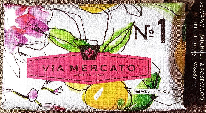 Via Mercato Italian Soap Bar – VARIETY PACK – 8 Total Bars No.1 – No.8