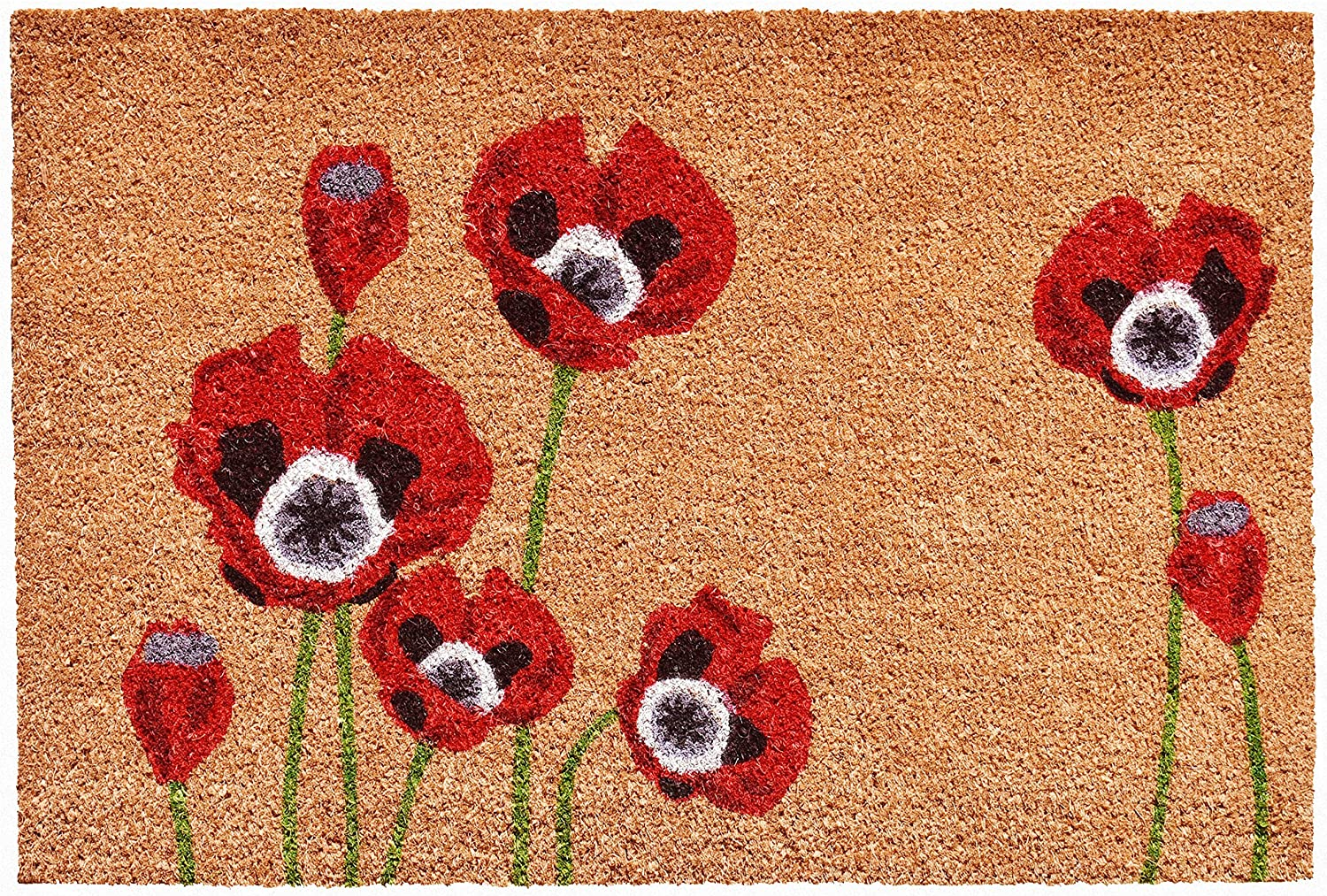 Home & More 104032436 Red Poppies Doormat, 24
