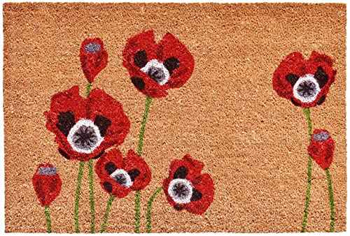 Home More 104032436 Red Poppies Doormat, 24 x 36 , Multicolor