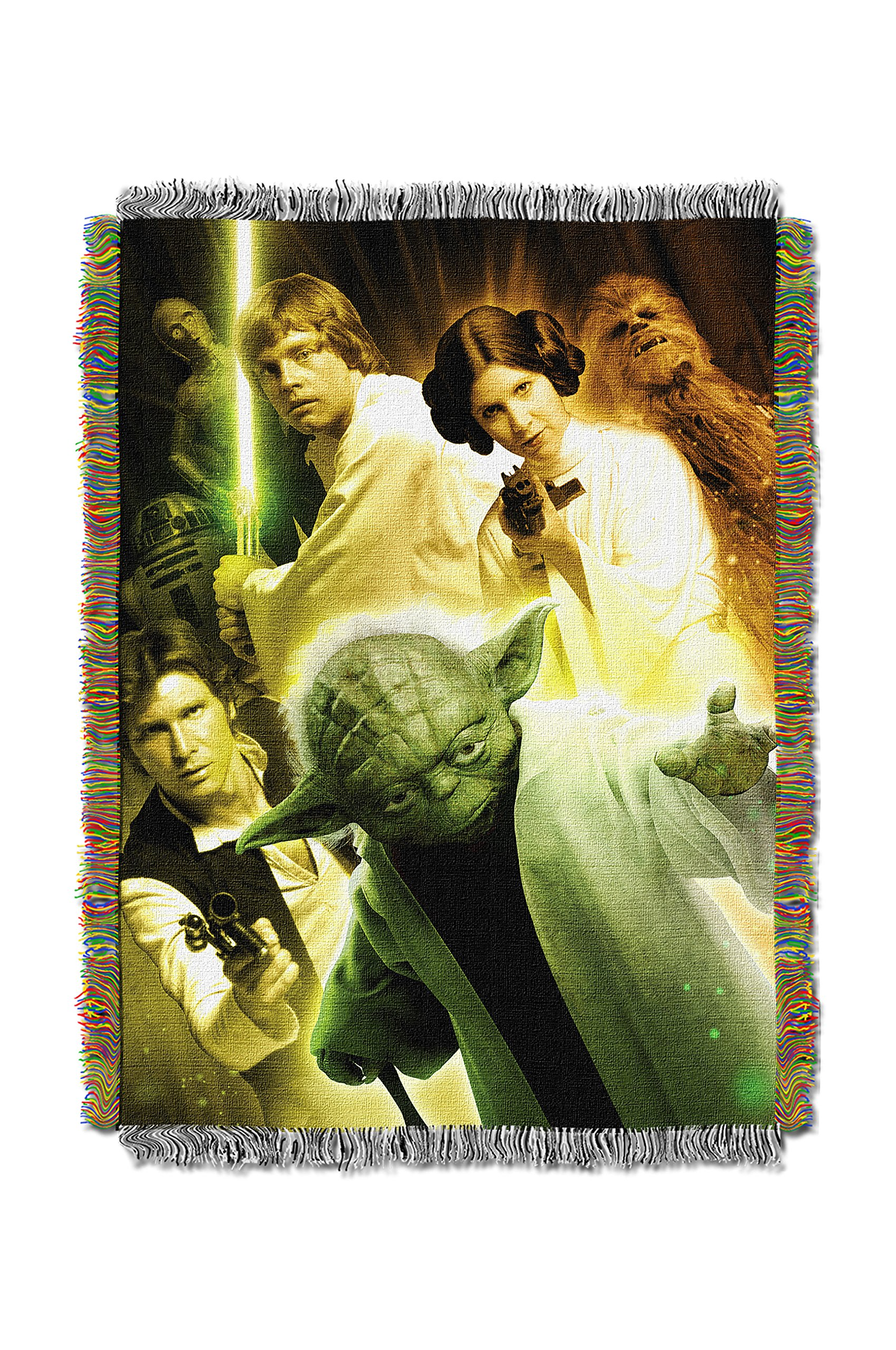 Disney's Star Wars, ''Small Rebel Force'' Woven Tapestry Throw Blanket, 48'' x 60'', Multi Color