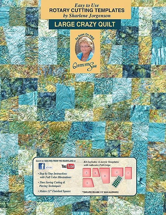 Amazon crazy quilt templates by sharlene jorgenson maxwellsz