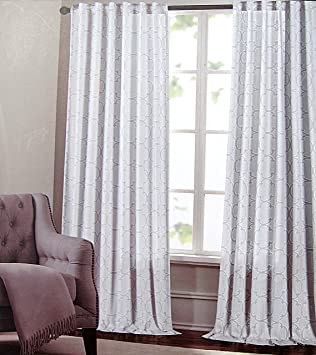 Amazon.com: Max Studio Set of 2 Window Curtains Panels Drapes ...